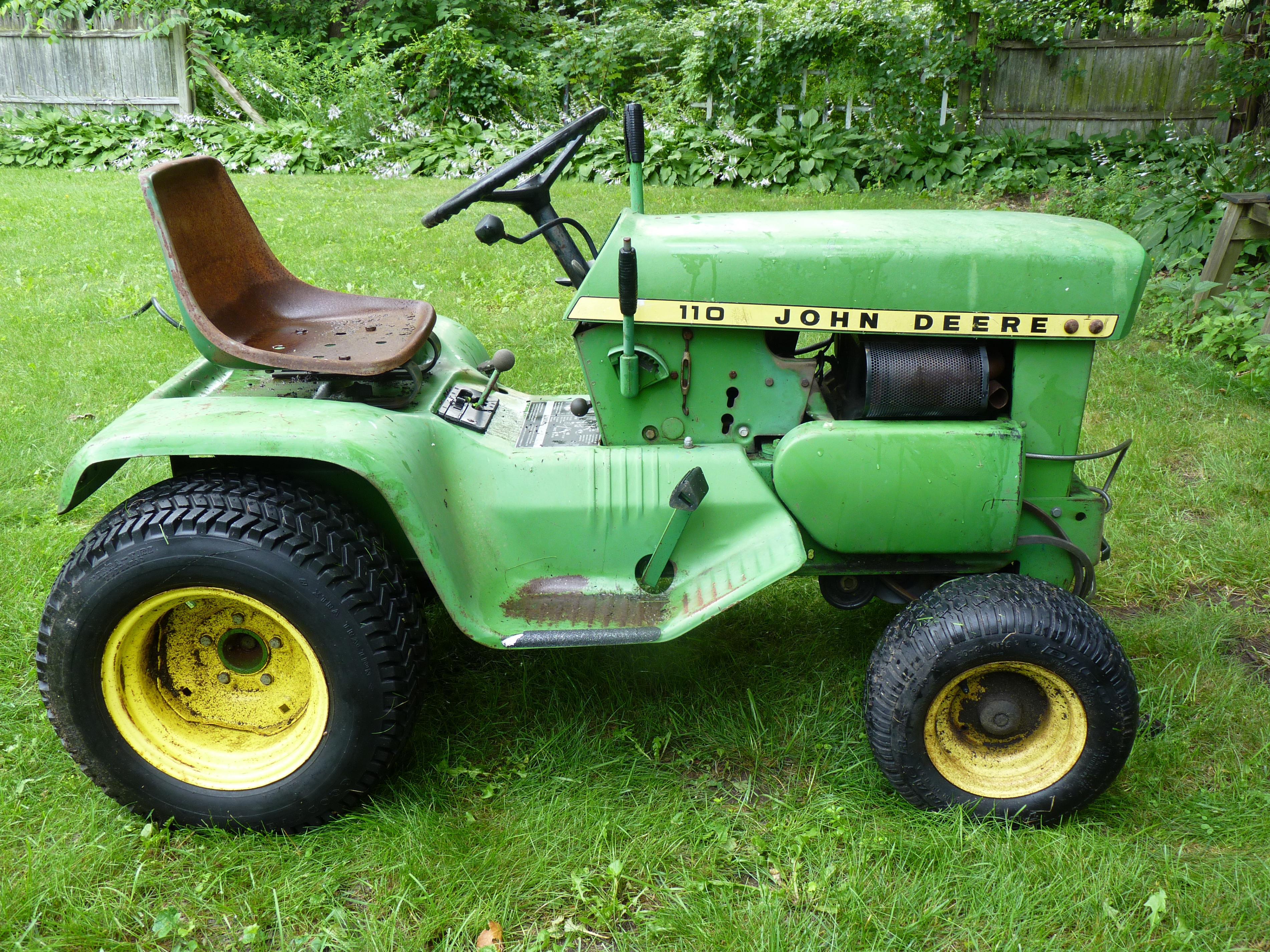 John Deere 110 Garden Tractor Attachments : New to me john deere  square fender question