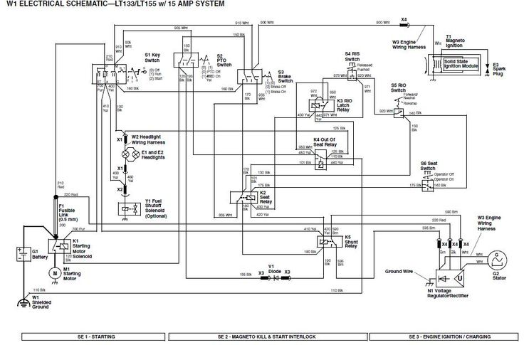 john deere 4300 tractor wiring diagram for john deere 1050 tractor wiring diagram lt133 will not crank over please help!!