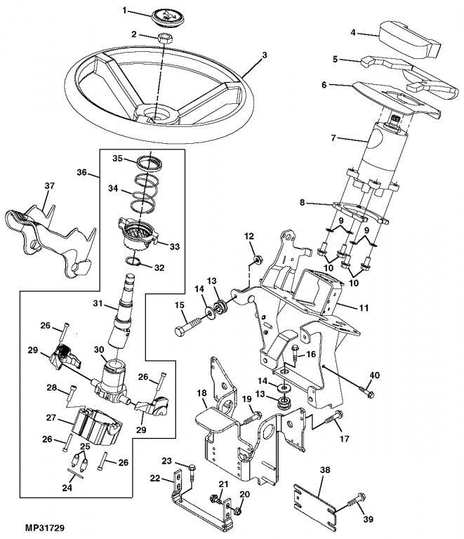 broken steering wheel tilt 4310