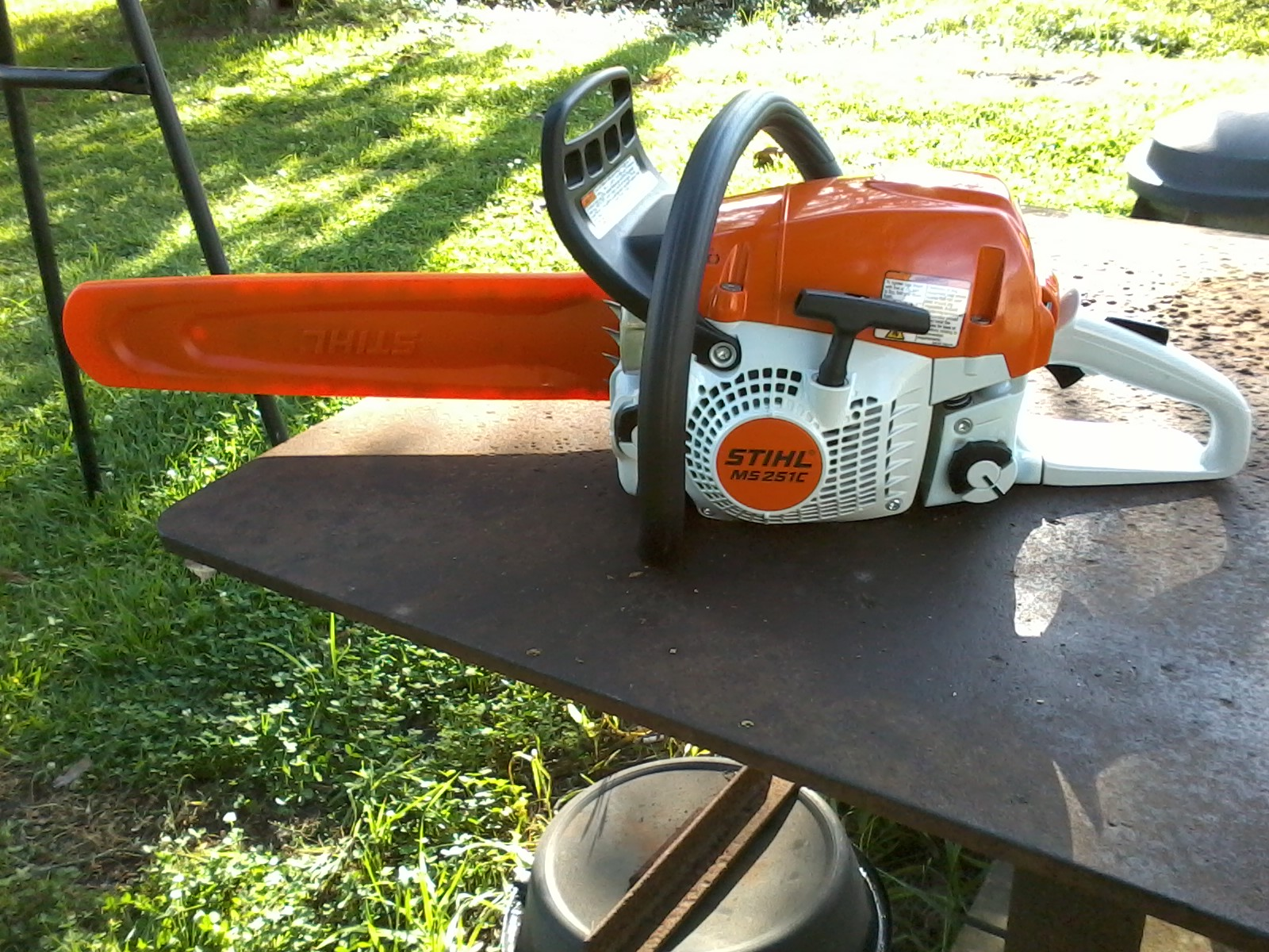 Just went bought a new STIHL MS 251 C chainsaw
