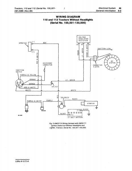 1968 110 side tag - page 2 john deere gt245 wiring diagram john deere 68 wiring diagram