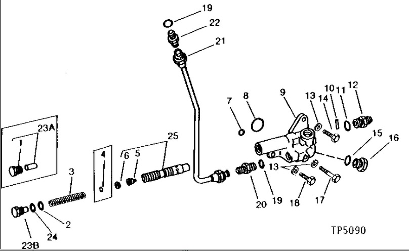 JD 401C Pulsating Hydraulic Line