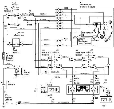 jd 318 will start pto switch shuts it off