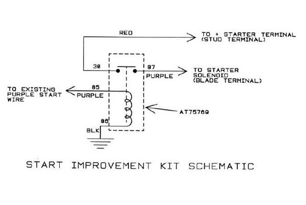 John Deere Starting Improvement Relay Kit Manual Guide
