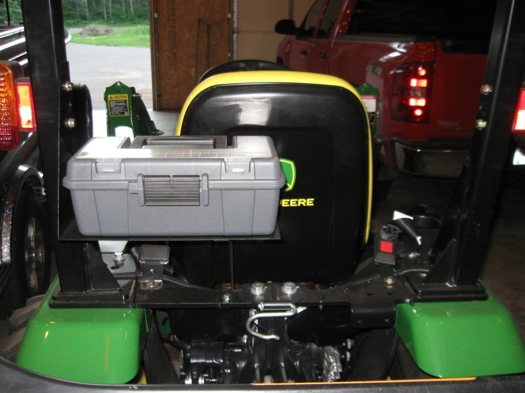 Tractor Fender Tool Box Mounted : Toolbox mount finally
