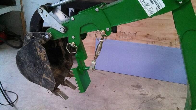 John Deere Backhoe Attachment >> Homemade 260 backhoe thumb