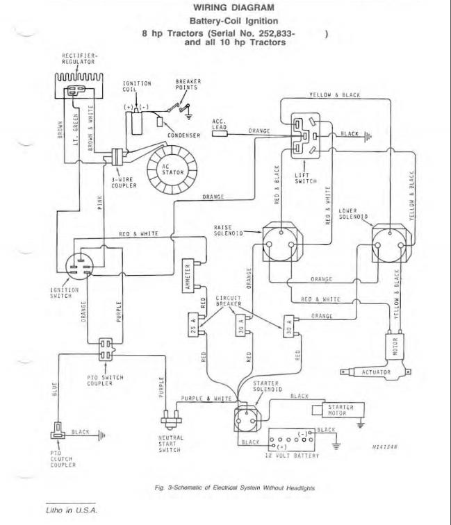 Wiring Diagram John Deere 110 Lawn Tractor