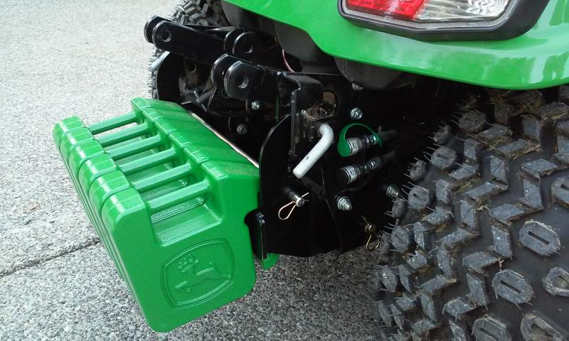 New X738 Owner Tire Chains Weighs Hitch